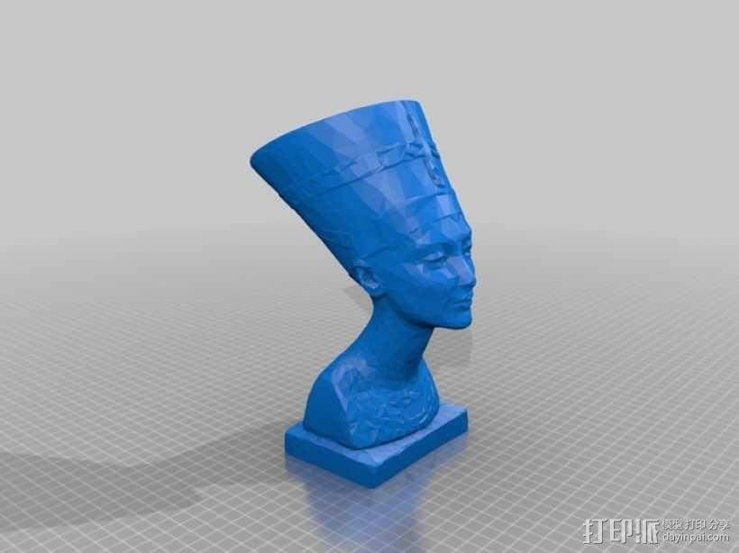 Nefertiti奈费尔提蒂半身像模型 3D模型  图1