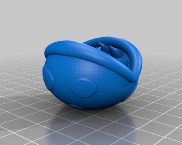 食人花笔筒 3D模型  图1