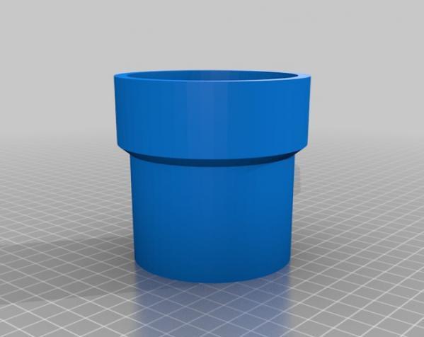 食人花笔筒 3D模型  图2