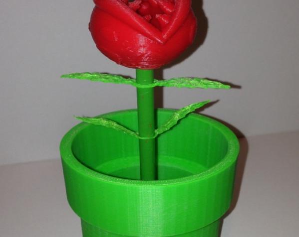 食人花笔筒 3D模型  图5