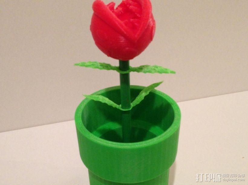 食人花笔筒 3D模型  图6