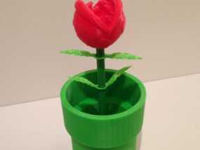 食人花笔筒 3D模型