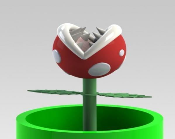 食人花笔筒 3D模型  图9