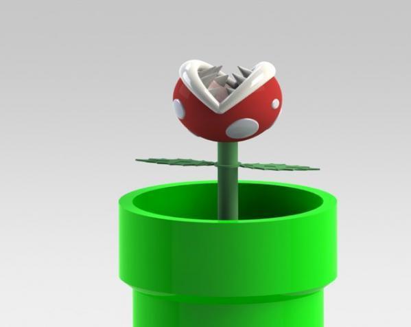 食人花笔筒 3D模型  图8