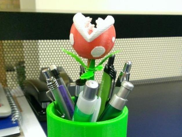 食人花笔筒 3D模型  图10