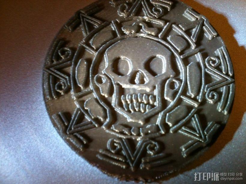 海盗 硬币 3D模型  图1