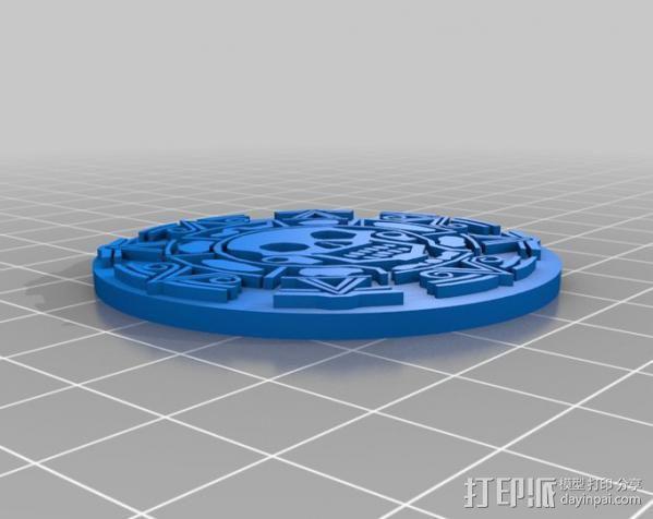 海盗 硬币 3D模型  图3