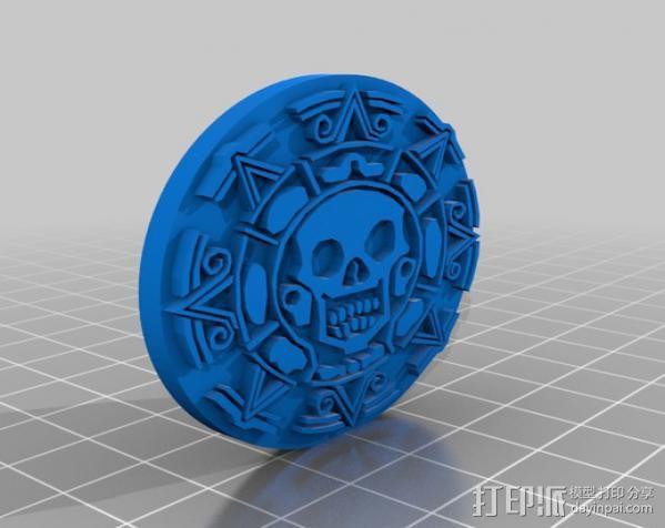 海盗 硬币 3D模型  图4