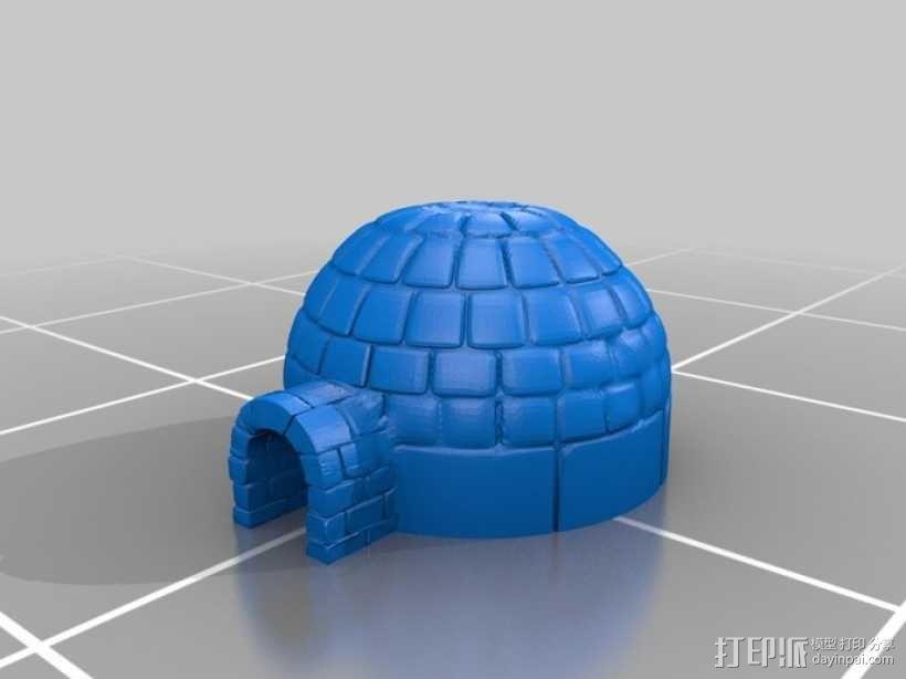 Igloo冰屋 3D模型  图1