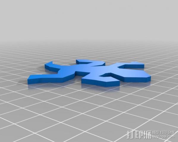 埃舍尔蜥蜴 3D模型  图5