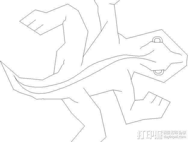 埃舍尔蜥蜴 3D模型  图10