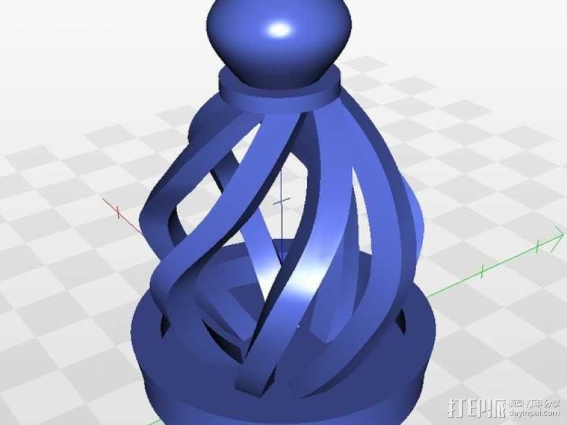 大理石笼子 3D模型  图1