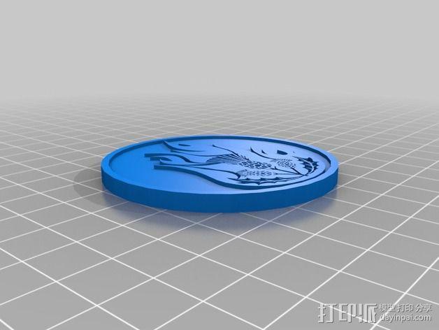 权利的游戏 家族徽标 3D模型  图4