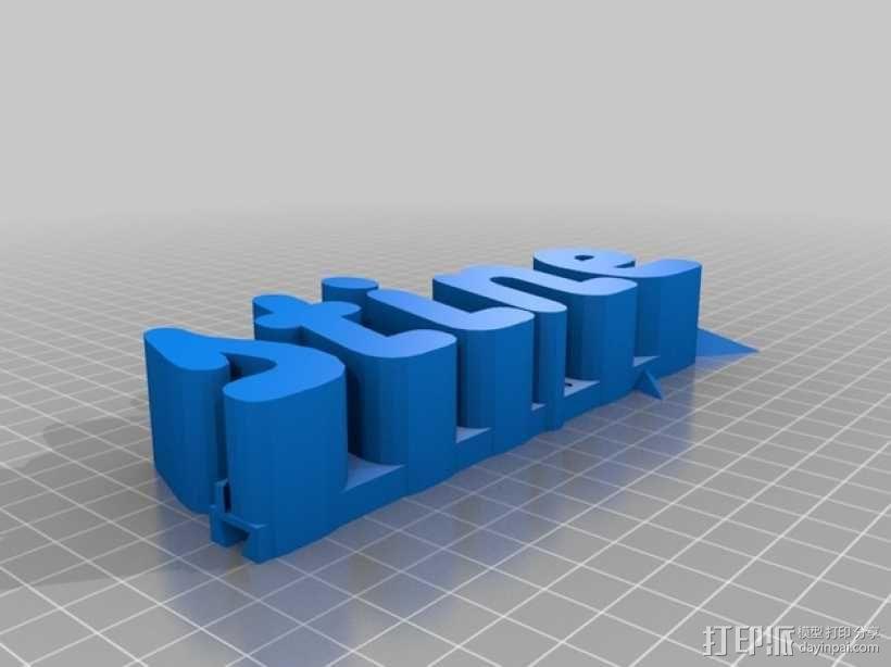 星星标牌 3D模型  图2
