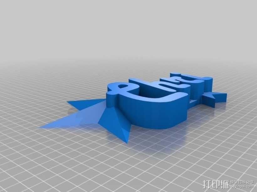 星星标牌 3D模型  图4