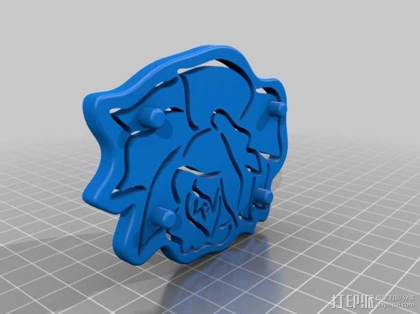粉红小花 3D模型  图2