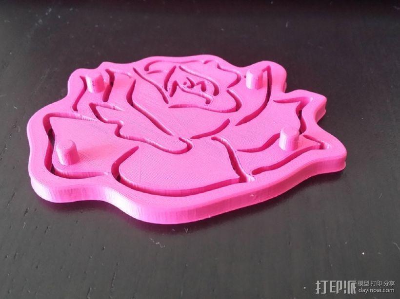 粉红小花 3D模型  图3