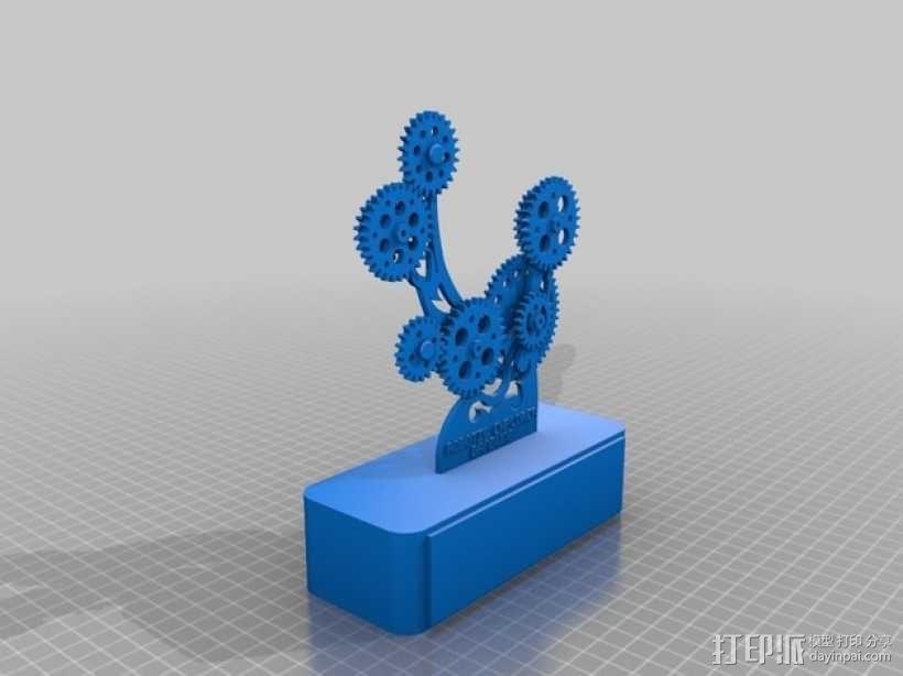Robotic Explorer Bandung奖杯 3D模型  图1