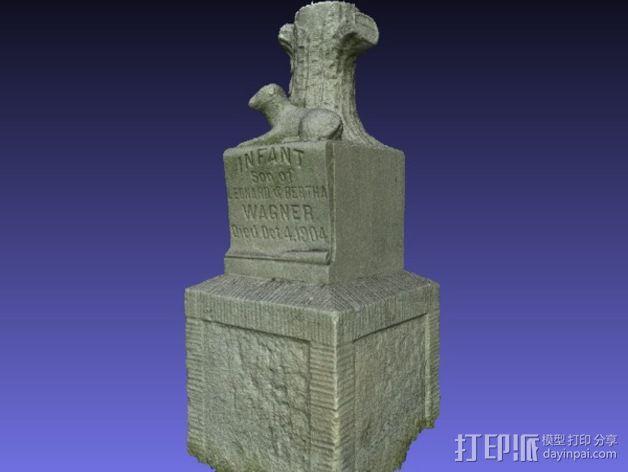 Wagner婴儿纪念碑 模型 3D模型  图4