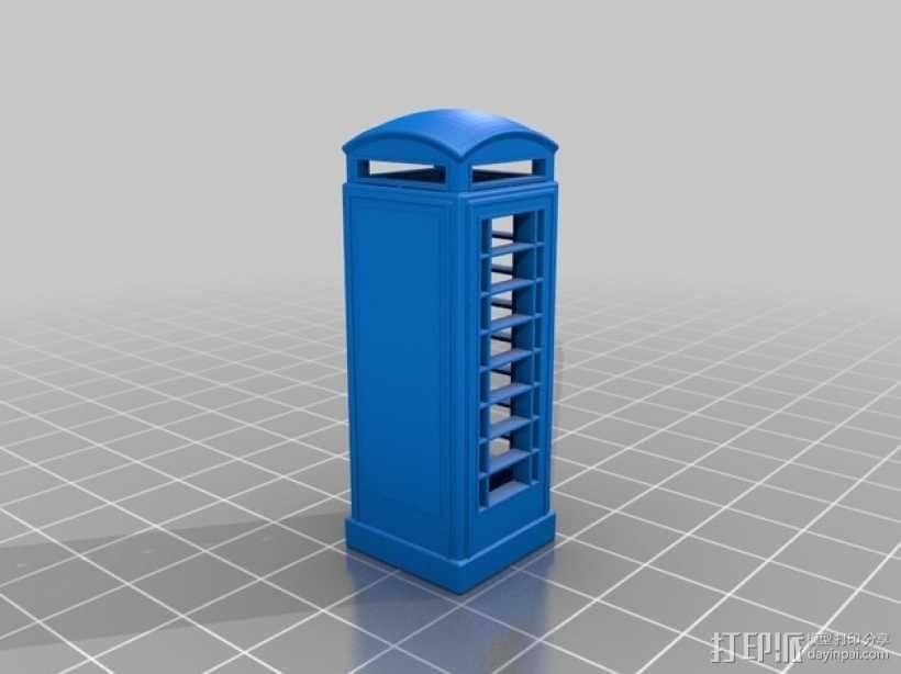电话亭 模型 3D模型  图1