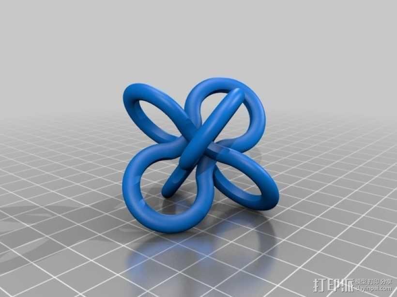 Borromean rings分子环 模型 3D模型  图2