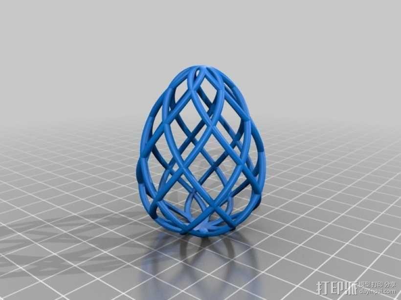 镂空鸡蛋模型 3D模型  图1
