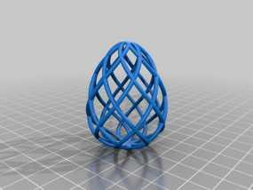 镂空鸡蛋模型 3D模型