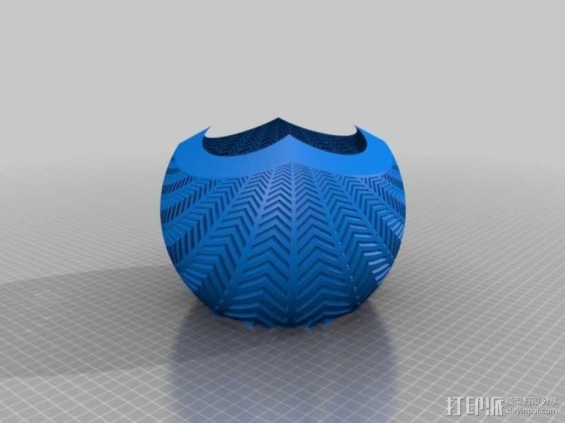 斜纹立体投影球 3D模型  图3