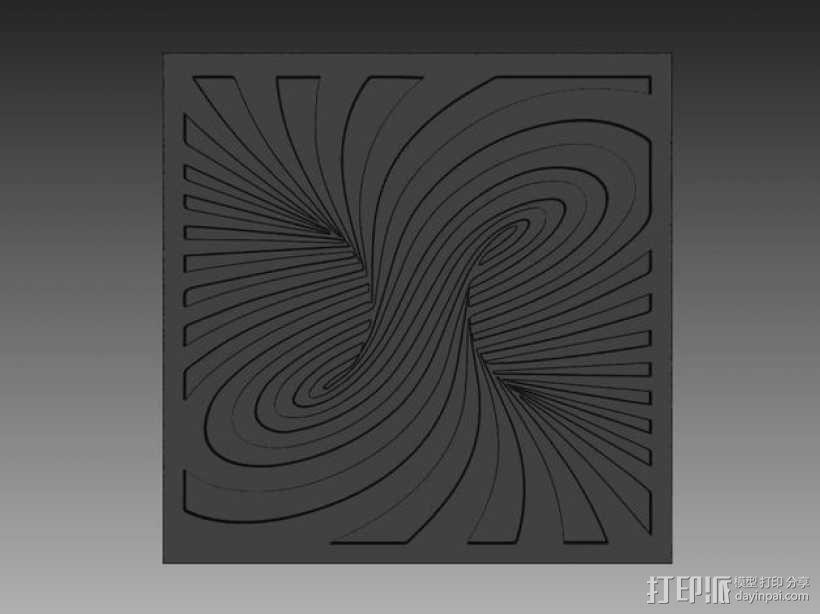 3D旋转图形透光浮雕 3D模型  图3