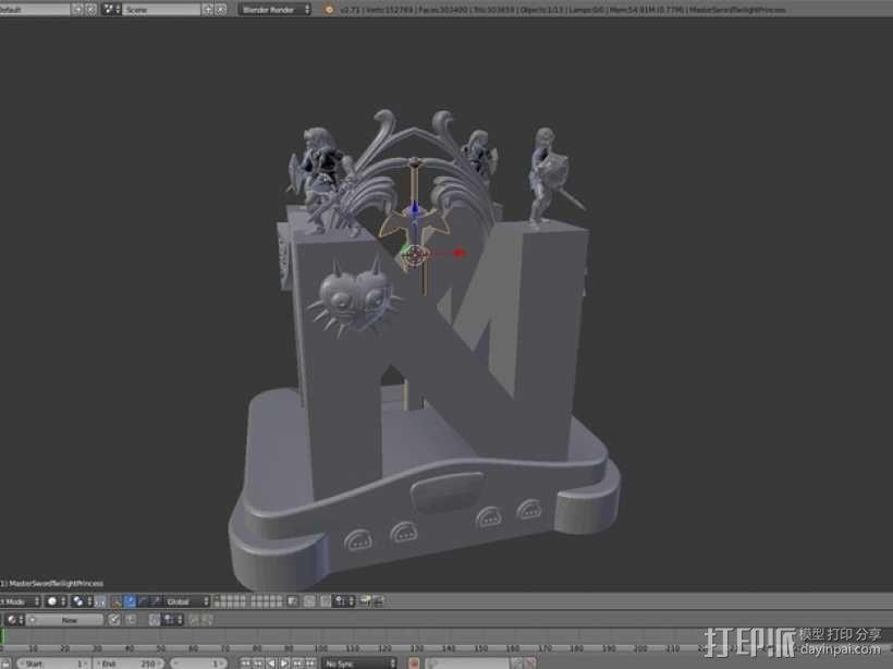 神龛 模型 3D模型  图3