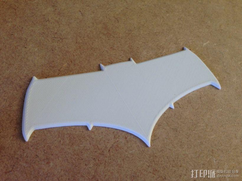 超人与蝙蝠侠 标志 3D模型  图1