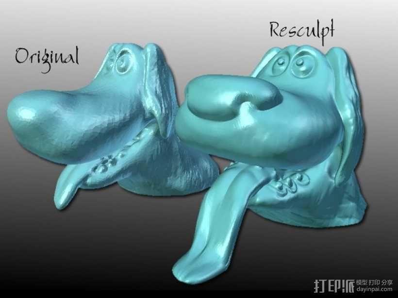 迪士尼狗狗 模型 3D模型  图1