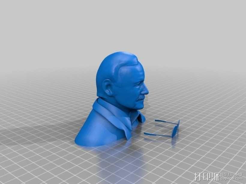 Stan Lee半身像模型 3D模型  图3