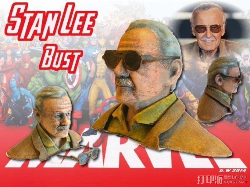 Stan Lee半身像模型 3D模型  图1