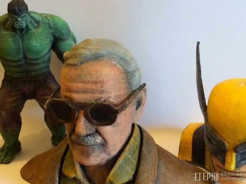 Stan Lee半身像模型 3D模型  图2