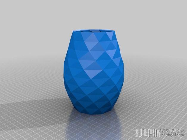 凹凸面花瓶 3D模型  图2