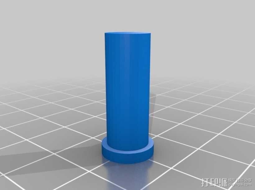 齿轮块(带手动曲柄) 3D模型  图4
