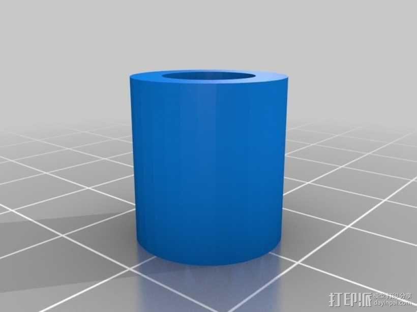 齿轮块(带手动曲柄) 3D模型  图2