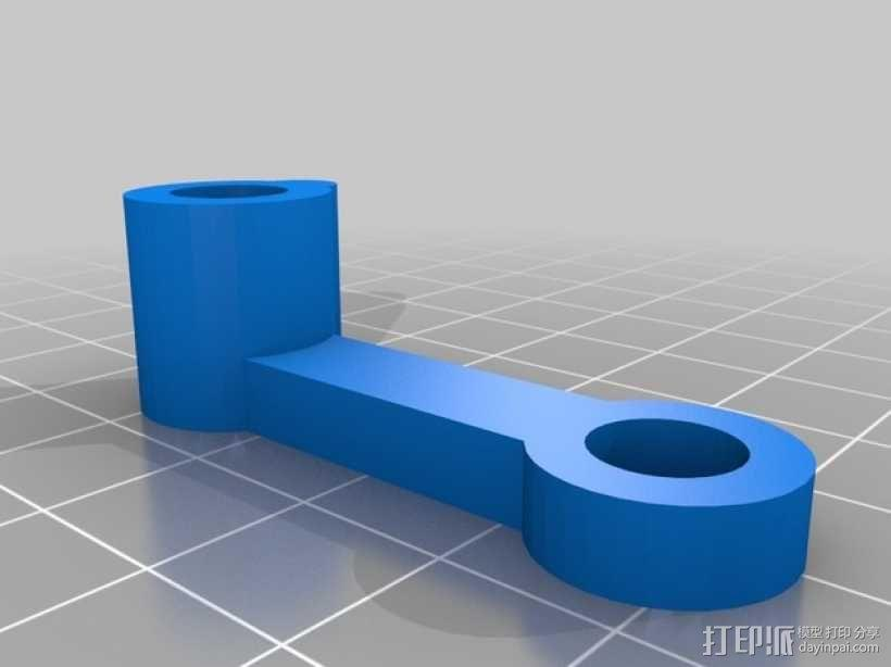 齿轮块(带手动曲柄) 3D模型  图3