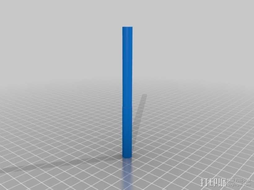齿轮块(带手动曲柄) 3D模型  图6