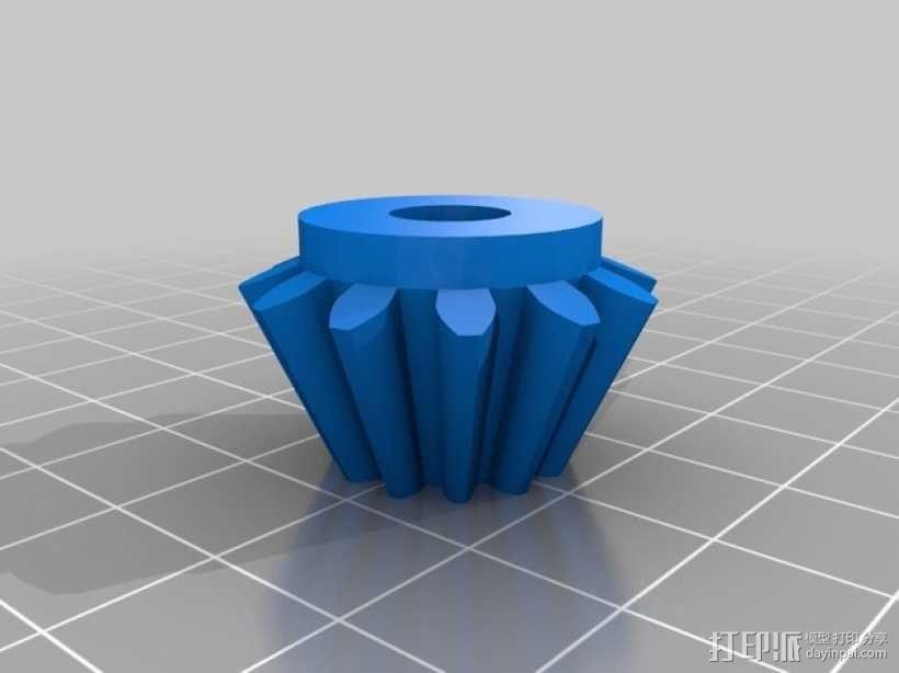 齿轮块(带手动曲柄) 3D模型  图5