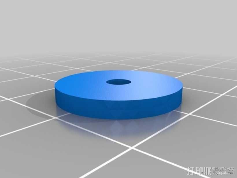 齿轮块(带手动曲柄) 3D模型  图7