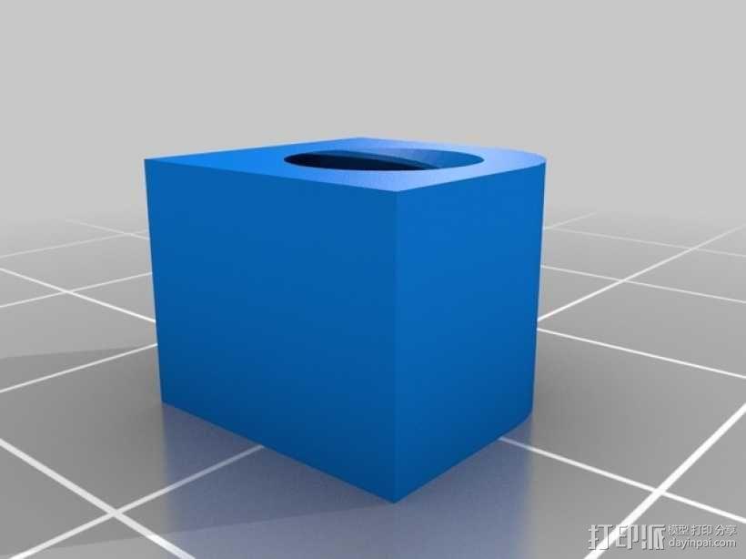 齿轮块(带手动曲柄) 3D模型  图10