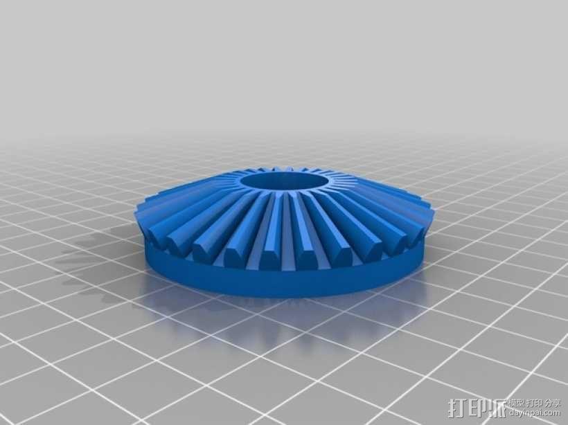 齿轮块(带手动曲柄) 3D模型  图11