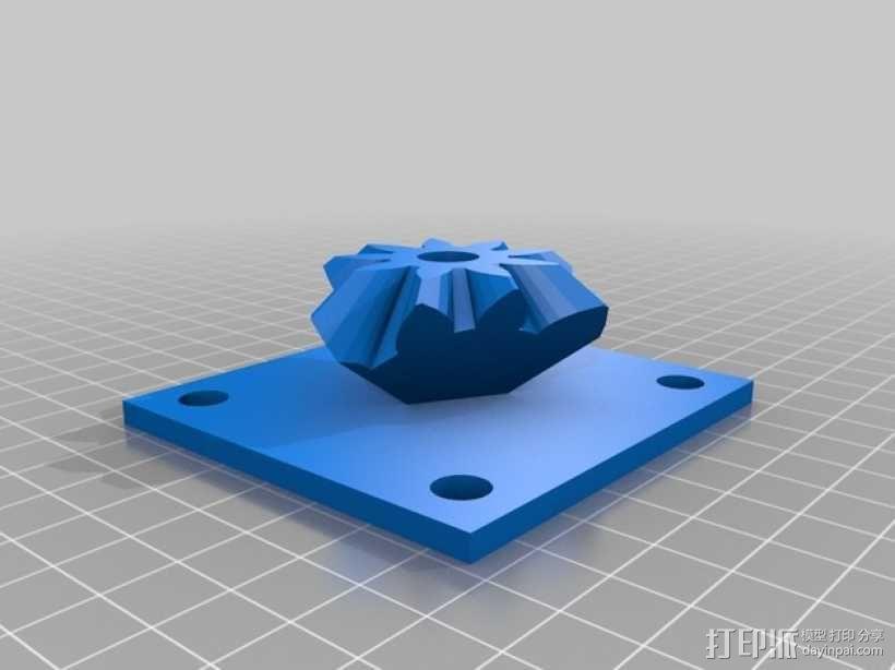 齿轮块(带手动曲柄) 3D模型  图12