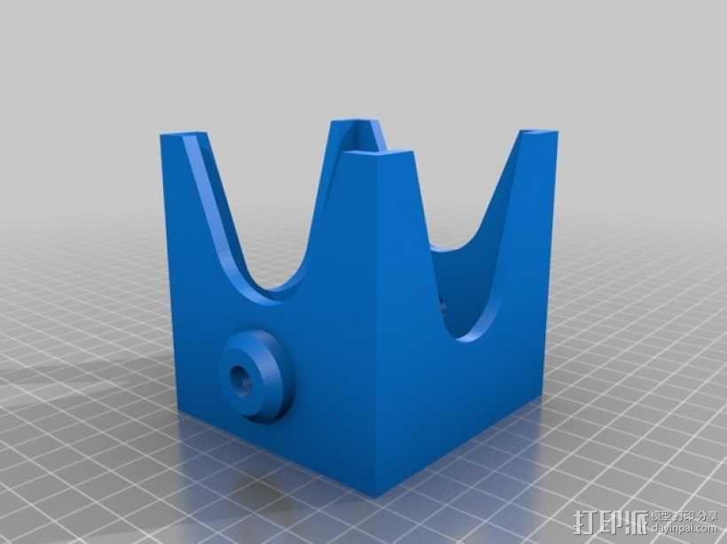 齿轮块(带手动曲柄) 3D模型  图13