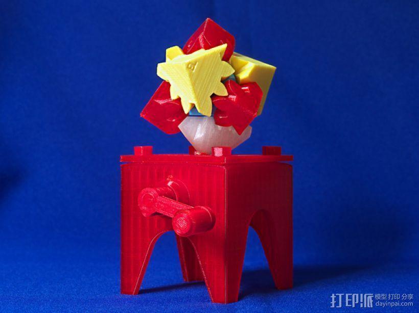 齿轮块(带手动曲柄) 3D模型  图14
