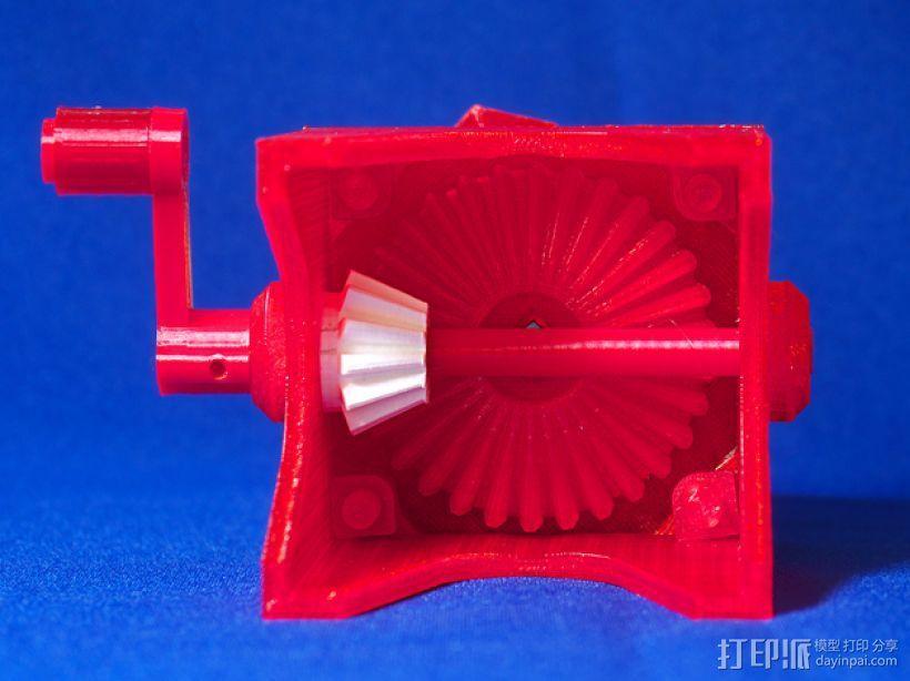 齿轮块(带手动曲柄) 3D模型  图15