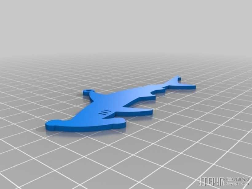 潜水员 吊坠 3D模型  图2
