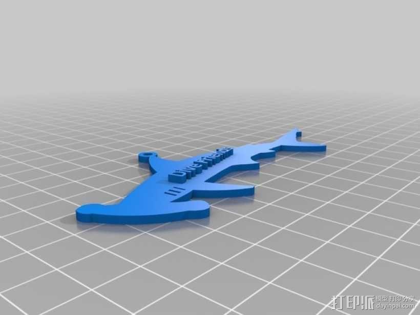 潜水员 吊坠 3D模型  图6